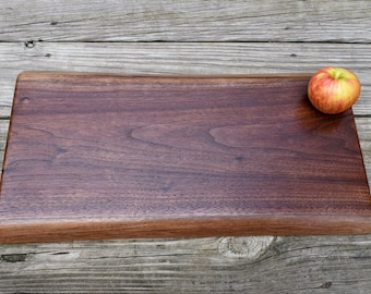 Black Walnut Charcuterie Board - Cutting Board - Live Edge Board - Solid Slab of Black Walnut - Serving Board - Engraving Option Available