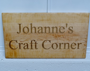 Wood Sign - One Custom Engraved Wooden Sign - Solid Slab Sign - Personalized - Custom Sign - Wedding Gift- Personalized Engraved Sign