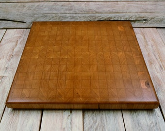 Cherry Wood Endgrain Cutting Board - Wedding Gift - Custom Cutting Board - Engraving Option Available