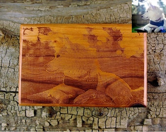 Engraved Wood Photo - One Picture Custom Engraved on 4x6 Wood - Solid Wood - Custom Engraved Picture - Family Photo