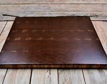 Walnut Wood Endgrain Cutting Board - - Wedding Gift - Custom Cutting Board - Engraving Option Available