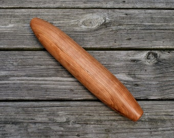 French Rolling Pin - Cherry - Wooden Rolling Pin - Cherry Rolling Pin - Wood Rolling Pin - Wood Turned Rolling Pin