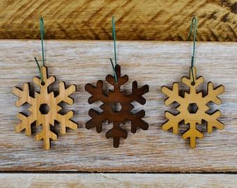 Wood Snowflake Ornament - Snowflake - Christmas Ornament - Laser Cut - Christmas Decor -Wooden Ornament