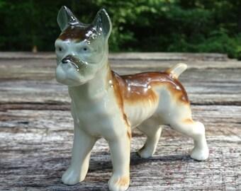 Vintage Boxer Porcelain Figurine Japan
