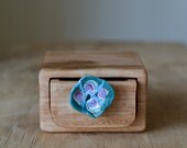 Light wooden box, wooden drawer box, glass drawer pull box, handmade wooden box, australian wood box, keepsake wood