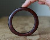 Small wooden bangle Australian Jarrah wooden sculptural bangle