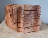 Wooden box Australian reclaimed sculptural carved textured timber wooden keepsake box