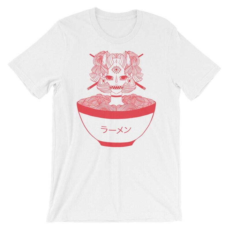 130630abe8ee4 Monster Girl Ramen Noodle Unisex T Shirt, Japanese Anime Manga Graphic Tee,  Strange Goth Art Shirt