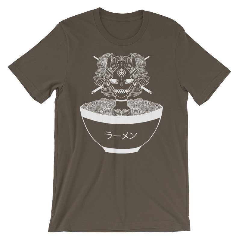 60bece084bfe3 Anime Ramen Noodle Monster T-Shirt, Unisex Manga Graphic Tee