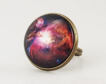 Orion Nebula Ring, Galaxy Jewelry
