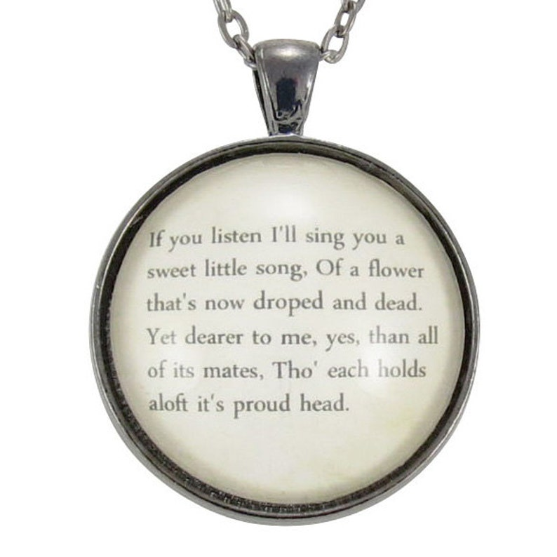 db5926662d9ed Personalized Song Lyric Necklace, Custom Pendant For Song Lyrics Or Poem