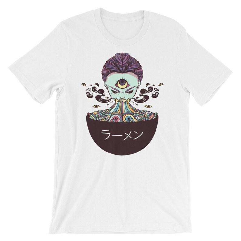 2b9960e35 Anime Ramen Noodle Monster Girl Graphic Tee Japanese Street | Etsy