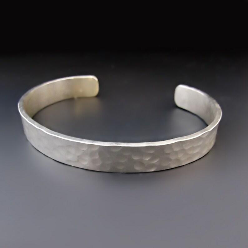 d3e4cf410d6 Men's STERLING SILVER Bracelet 3/8 inches wide Silver | Etsy