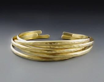 Skinny Gold Brass Cuffs, Gold Bracelets for Women, Gifts for Her, Stacking Bracelets, Skinny Stackers, Wedding, Birthday Gift, Bridal