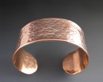 Hammered Copper Cuff Bracelet - Metal Cuff - Textured Bracelet