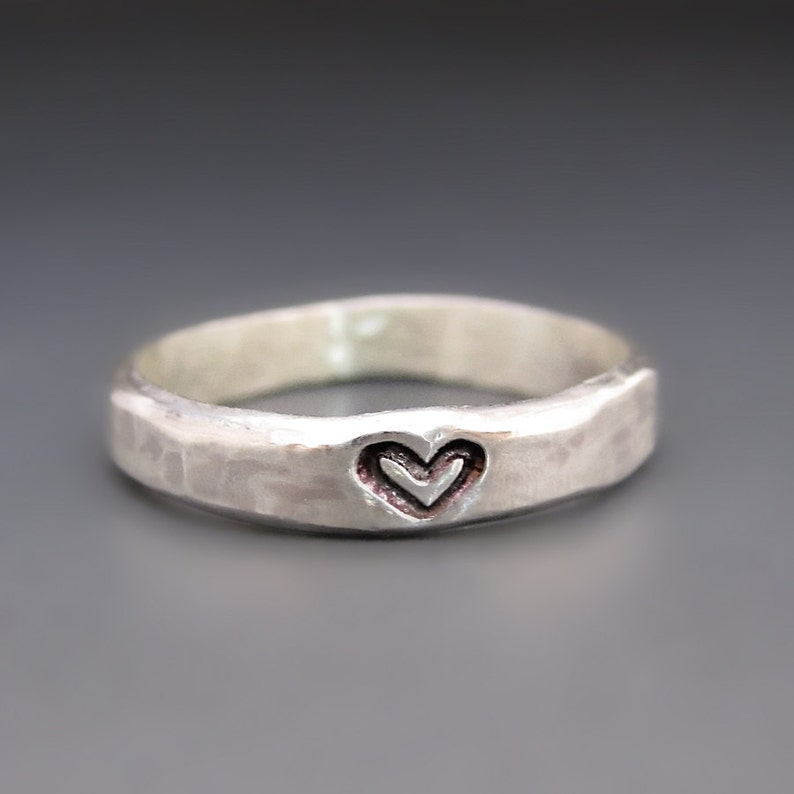 Bridesmaid Gift Sterling Silver Heart Ring Wedding Gift Etsy