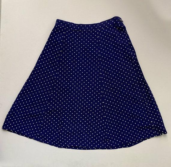 1940s ladies suit. vintage 30s 40s polka dot navy… - image 4