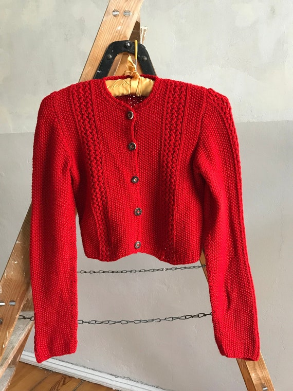 1940s Bavarian knitwear sweater . 40s vintage auth