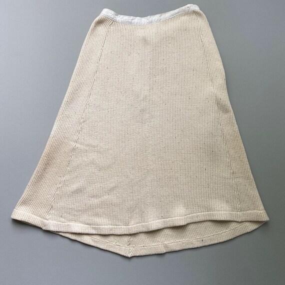 1930s knit cotton skirt . 30s vintage Swedish coun