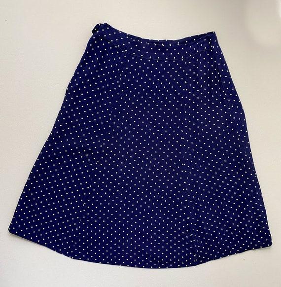 1940s ladies suit. vintage 30s 40s polka dot navy… - image 5