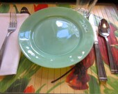 Jadeite Fire King Plates, 1940s Fire King Oven Ware, Set of 6 Dinner Plates, Style G306, Restaurant Line, Vintage 1940s, Excellent Condition