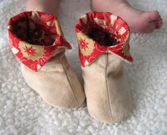 sizes Fabric Baby Shoes Sewing Pattern