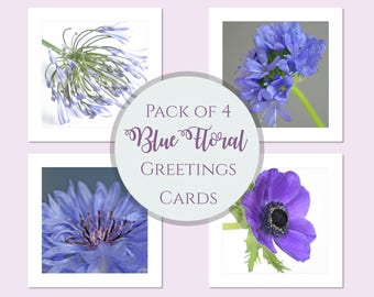 Floral Note Cards Set | Pack of Flower Note Cards | Floral Greeting Cards Selection | Greeting Card Bundle | Flower Birthday Cards