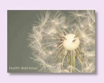 DANDELION BIRTHDAY CARD | Flower Card | Flower Birthday Card | Floral Birthday Card | Card for Her | Card for Mum | Friend Card