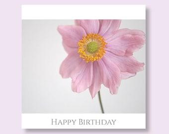 FLOWER BIRTHDAY CARD | Female Birthday Card for Her | Flower Birthday Card | Floral Card | Flower Photo Card | Floral Birthday Card