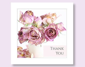 Floral Thank you Card | Pack of Thank You Cards | Thank You Cards Wedding | Flower Thank You Card | Thank You Note Card