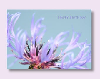 Flower Birthday Card | Photo Cards for Her | Floral Photo Greeting Card | Floral Birthday Card | Greetings Card | Flower Card | Floral Card