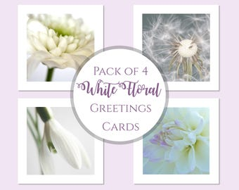 Photo Cards | Flower Notelets | Note Card Set | Flower Photo Cards | Floral Greeting Card Set | Floral Photo Cards | Blank Pack Cards