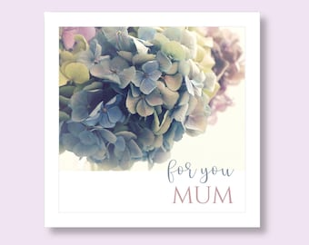 Mum Birthday Card | Birthday Card Mum | Mum Card | Card for Mum | Hydrangea Card for Her | Mother's Day Card | Mothering Sunday Card