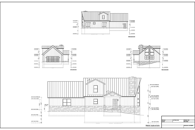 Full Set of Condominium Triplex building plans 1,379 sq ft