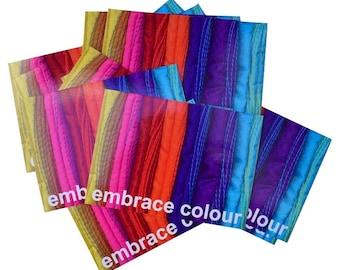 postcards: embrace colour (set of 6)