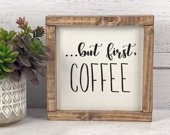 Coffee Signs For Kitchen Etsy