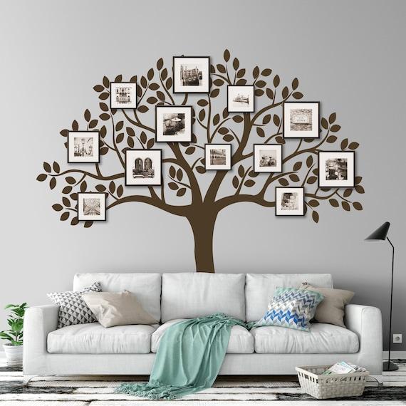 Foto Rahmen Wandtattoo Stammbaum Wandtattoo Aufkleber Baum Etsy