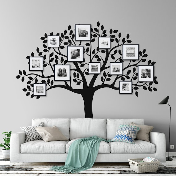 Family Tree Wall Decal Family Tree Decal Photo Frame Wall Decal Family Tree Picture Display Tree Deal Tree Wall Decal
