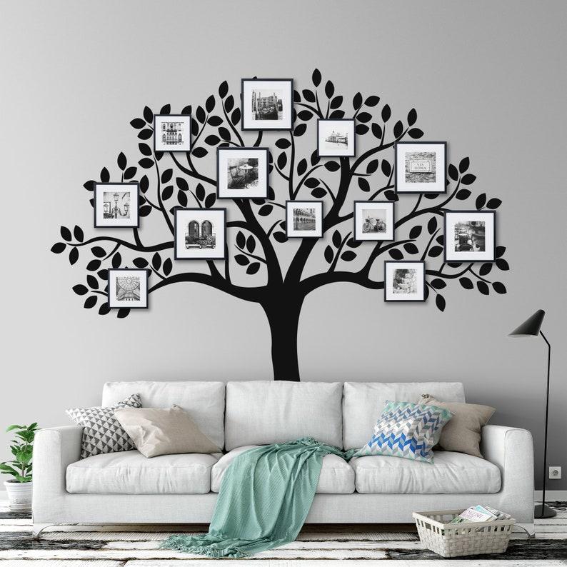 fdffe6ae0641 Family Tree Wall Decal Family Tree Decal Photo Frame Wall | Etsy