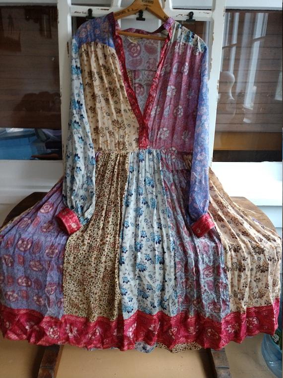 Rare 70s RITU KUMAR hippie silk for Judith ann boh