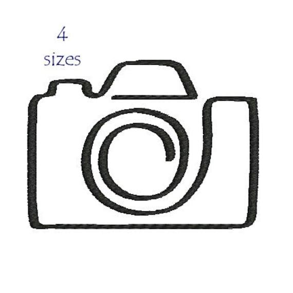 Dessin Appareil Photo appareil photo motif de broderie machine broderie dappareil | etsy