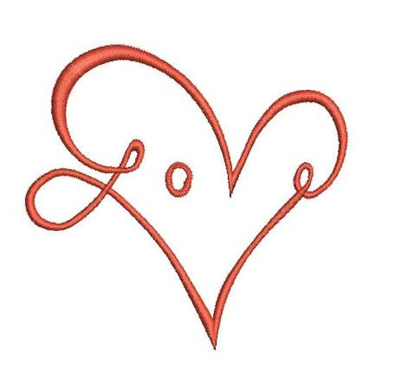 name love embroidery design love embroidery file  L359 split Heart embroidery design monogram embroidery heart embroidery machine