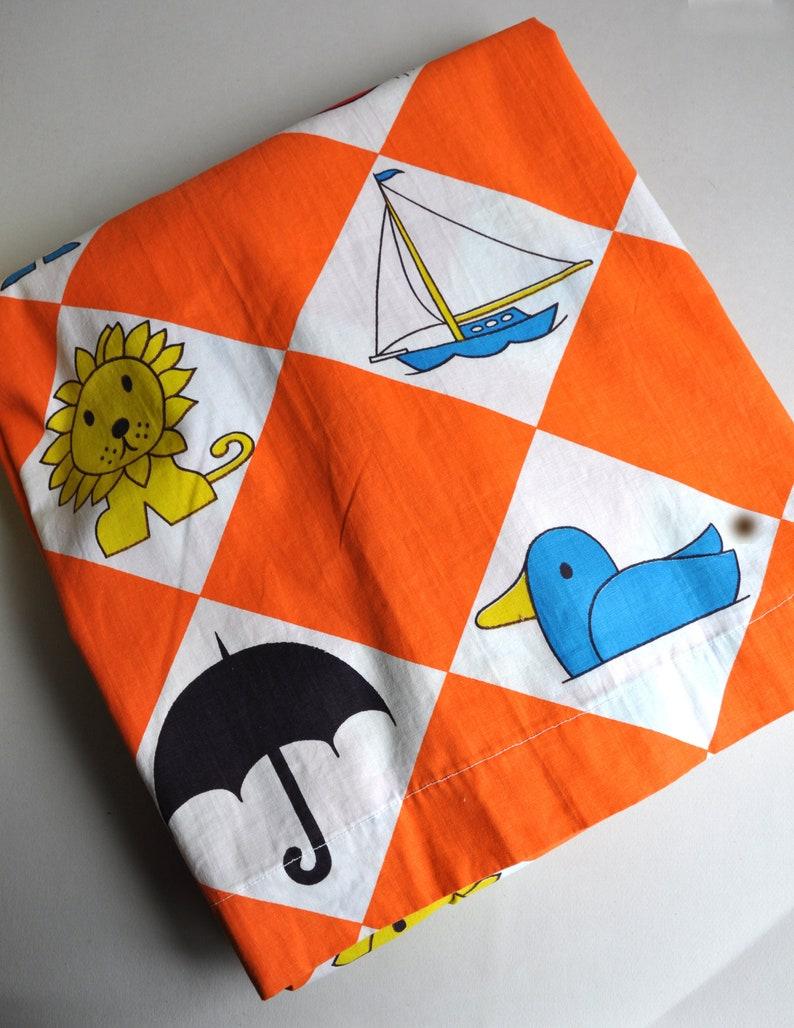 RARE Dick Bruna Illustrated Pair Fabric Curtain Panels