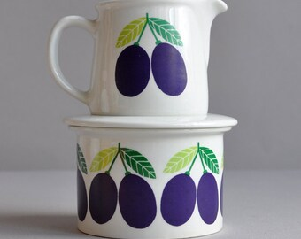 SALE 20% OFF! Pomona Jar & Creamer - Raija Uosikkinen - Arabia - Made in Finland