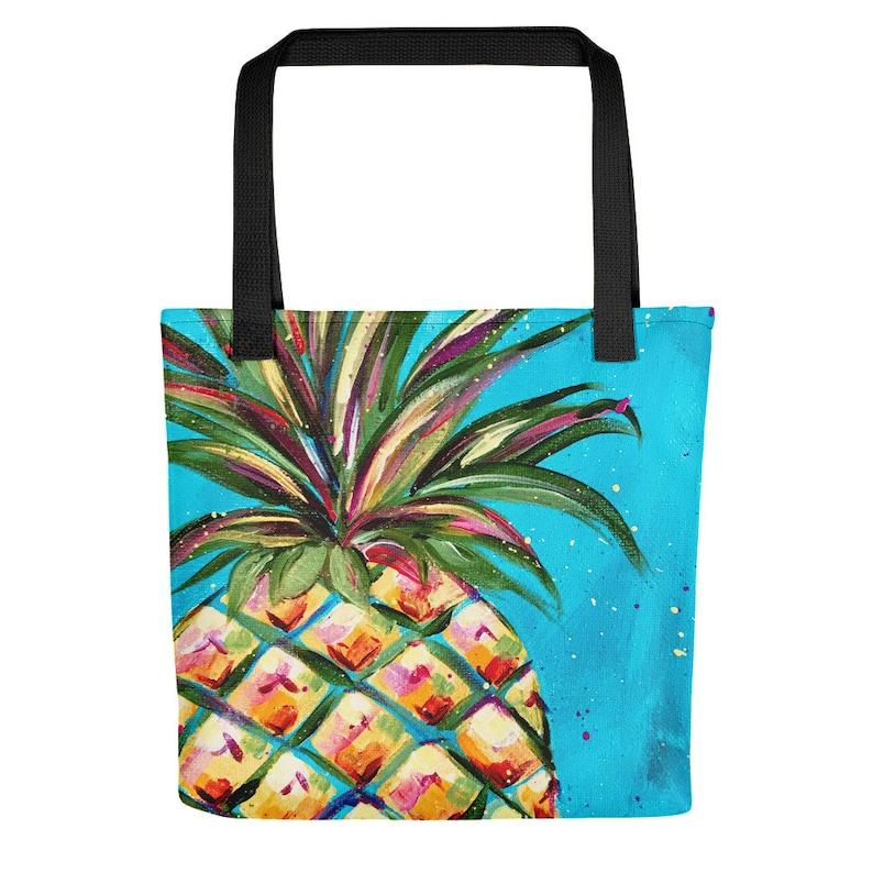 Pineapple Beach Tote Hawaii Tote Bag Pineapple Bag Pineapple Tote Pineapple Tote Bag Pineapple Farmers Market Tote