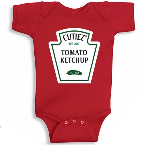 Ketchup Halloween costume for babies