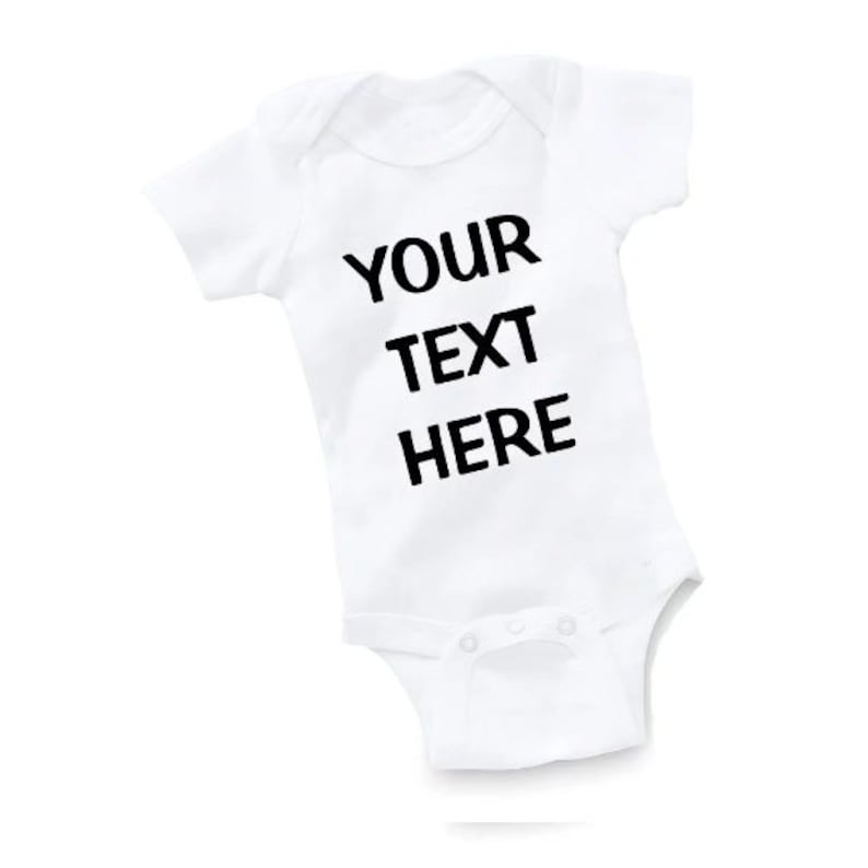 Personalised Custom ANY TEXT Bodysuit Baby Vest Cute Gift Funny ALL SIZES