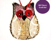 Burlap Owl Craft - Fabric...