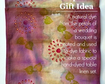 Wedding Keepsake Gift Idea - Unique Wedding Gifts for Couple - Wedding Gift - Hand Dyed Fabric - Dip Dyed - Block Printed Fabric