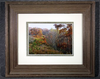 Colors of the Blue Ridge 5x7 matted and framed in an 8x10 Barnwood Frame,Nature Photography, Landscapes, Free Shipping